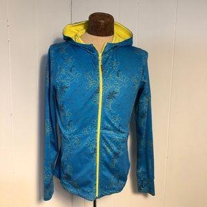 Womens blue/yellow Mondetta Jacket. Med